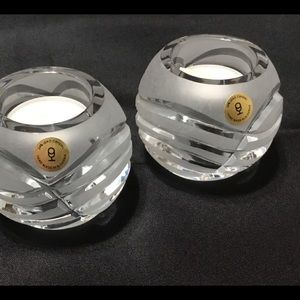 Set of Crystal Tea Light Holder